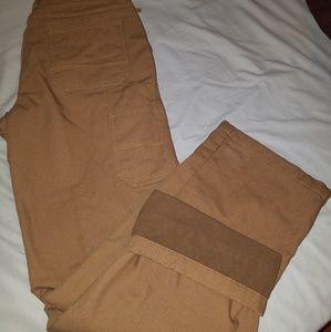 L.L. Bean Pants - L.L. Bean Fleece Lined Work Pants